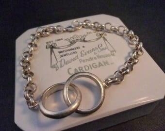 """A superb vintage sterling silver bracelet - 925 - Unique - 7"""" - Full UK Hallmark"""