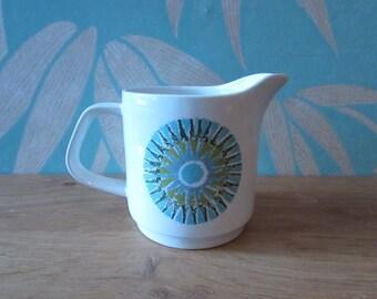 1960s J&G Meakin Aztec milk jug