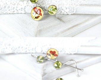 Unique gift for women Flower jewelry for hair Cute gift for kids flower hair pin Gift for flower girl Bobby pins Flower barettes Nature gift
