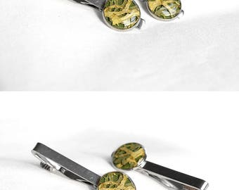 Unique gift for him Tie clips for gift for father day Wedding gift for groom Anniversary gift for boyfriend Gift for husband Gift brother