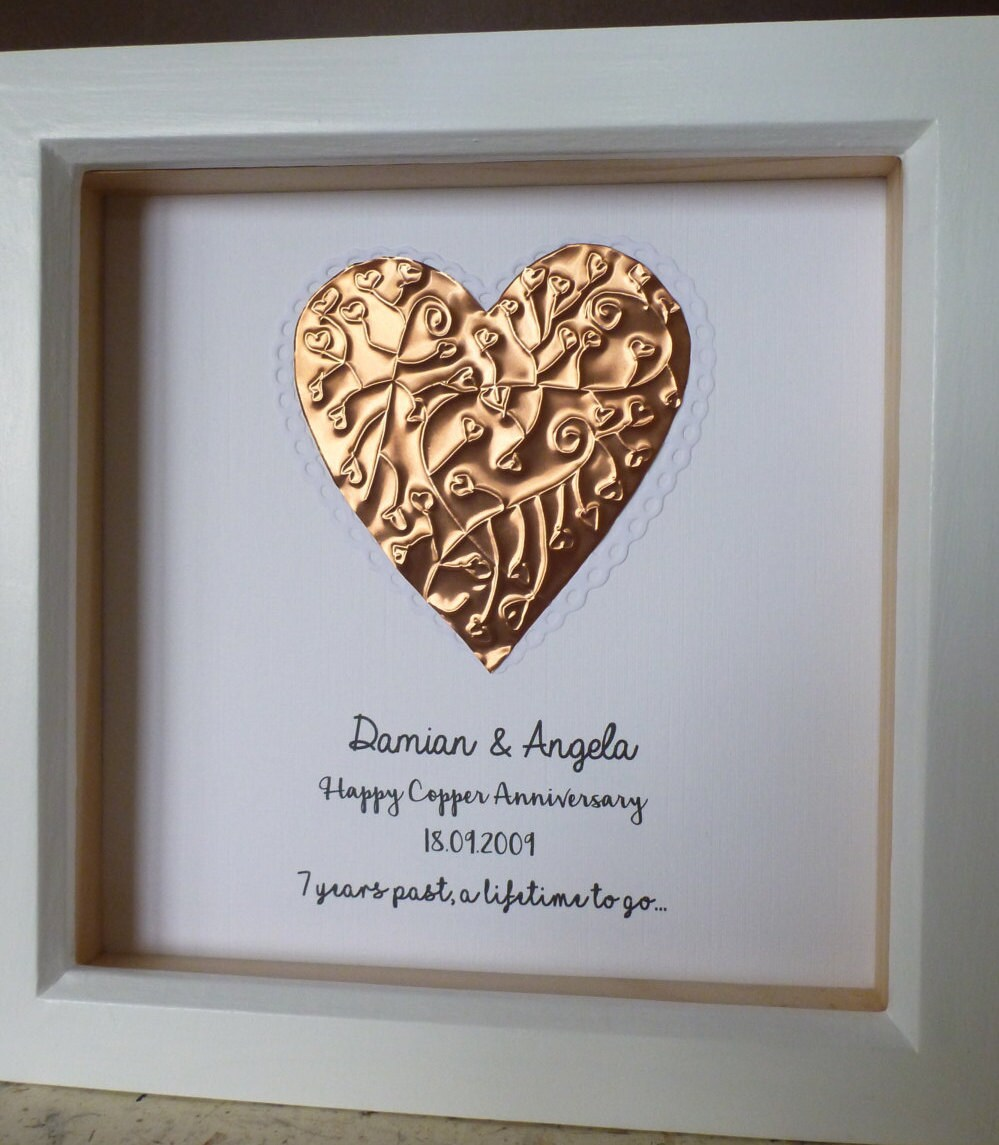 7th Wedding Anniversary Gift Copper Anniversary Gift 7th