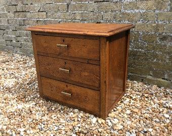 1920s Art Deco oak filing drawers filing cabinet table top filing drawers antique drawers deco drawers table top drawers office filing