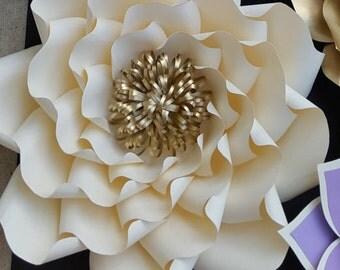Paper flower template, paper flower template ONLY. DIY paper flower tutorial, custom flower wall pattern