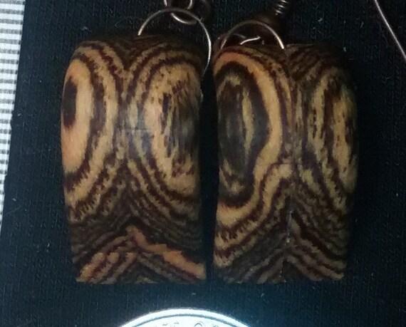 wood earrings, worry earrings,