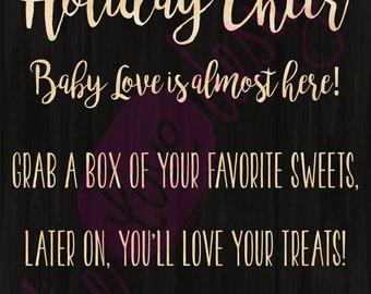 Holiday Cheer Treat Bag Tag