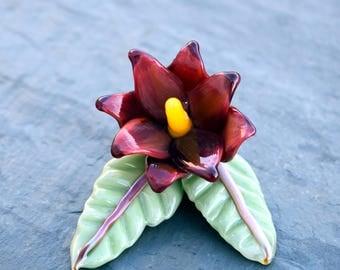 Handmade Boro Pendant  - Flower #2