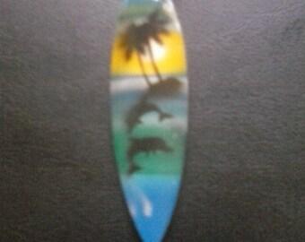 Surfboard, tropical, hawaiian, island, pendant necklace, Free shipping