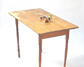 Vintage Sewing Table; Vintage Tailoru0027s Table; Crafting Table; Craft Room;  Vintage Wood