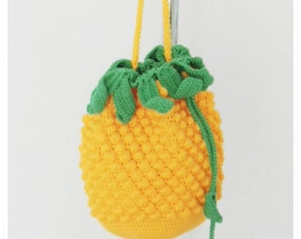 Crochet Bag, Crochet Crossbody Bag, Crochet Shoulder Bag, Crochet Pineapple Bag, Pineapple Bag, Summer Bag,Shoulder Bag, Gift for Her