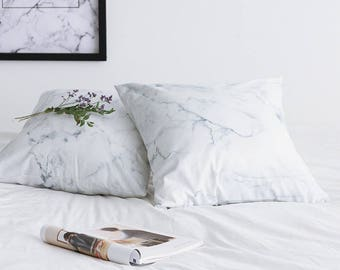 Marble pillow cover ,Marble Gray Pillow Case