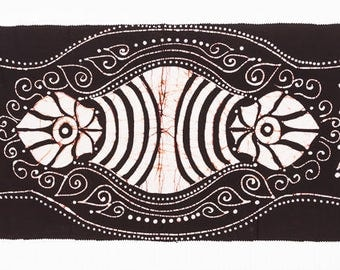 Black and White, Batik Table Runner, Table Centerpiece, Dining Room, Kitchen Decor, Table Decoration