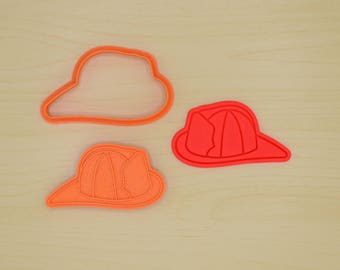 Firefighter Helmet Cookie Cutter and Stamp Set