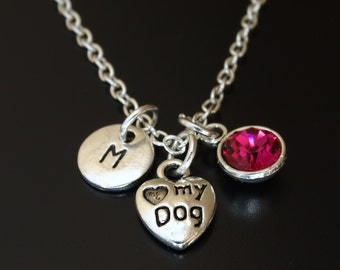 Love my Dog Necklace, Love my Dog Charm, Love my Dog Pendant, Love my Dog Jewelry, Dog Lover Necklace, Dog Lover Jewelry, Dog Memorial