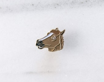 HORSE MASK - Enamel Pin, Lapel pin, Pins, Enamel Pins, Pin, Gold enamel pin, Horse pin.