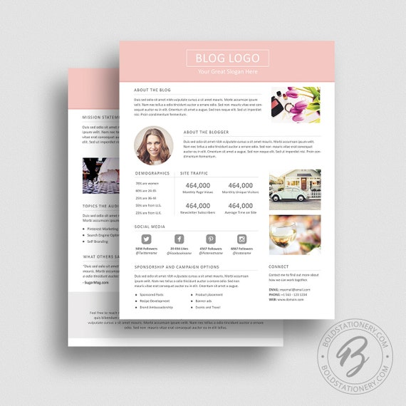 3 Page Media Kit Template 03 Ad Rate Sheet Template Press