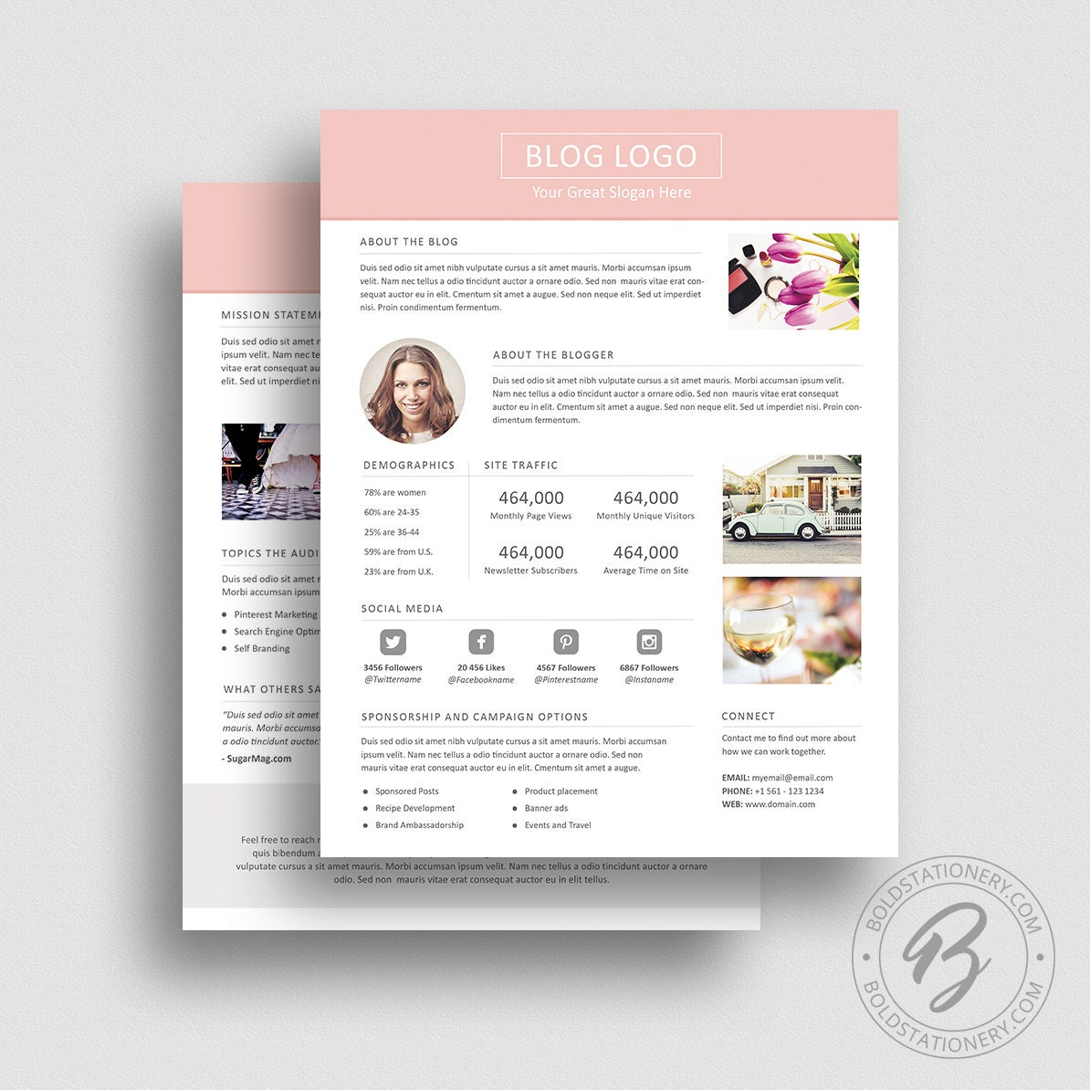 advertising media kit template - 3 page media kit template 03 ad rate sheet template press