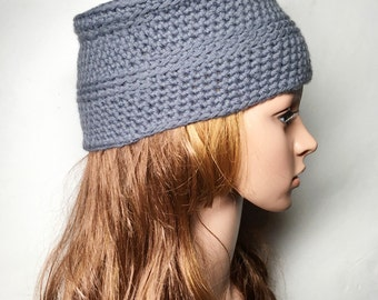 Grey ZEA Crocheted Hat - Hand Made Crocheted Hat - Grey Hat - Woman Hat - Man Hat - Ready To Ship