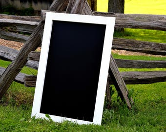 "Chalkboard - Large Chalkboard 24"" x 48"" - 24"" x 36"" - 24"" x 24"" - Rustic Chalkboard - Blackboard - Home Decor - Chalkboard Sign - Chalkboard"