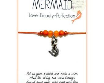 Mermaid... Inspirational WishLet (Wish Bracelet)