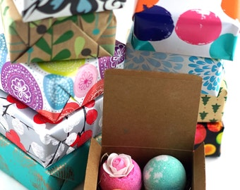 4 Bath Bombs Gift Pack, Perfect Christmas Gift For Family, Friends, Co Worker, Parties!! ...