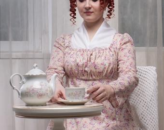Regency Morning Dress, 1800s Home Gown
