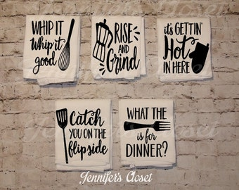 Funny Kitchen Towel, Flour Sack, Towels, Kitchen Decor, Hostess Gift Kitchen Towels Dish Towel