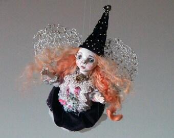 Fairy Art Doll/ Art Doll/ Handmade Fairy Doll/  The Fairy Collection/ Fairy Ornament/ OOAK Fairy Doll/ Collectible Hanging Doll/ Faerie