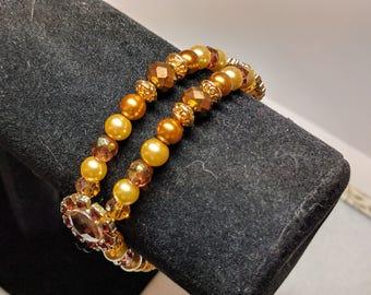 Amber Bronze Gold Bracelet