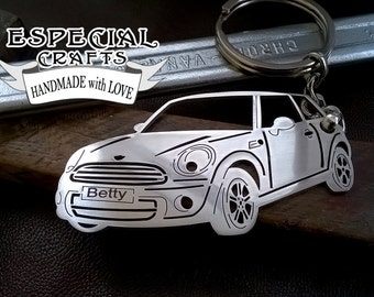 Mini Cooper, mini cooper keychain, cooper, mini cooper personalized key chain, keychain, birthday gift, personalised keyring