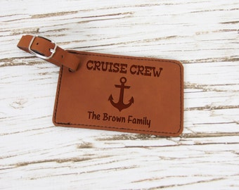Custom Luggage Tag, Personalized Luggage Tag, Vacation Gift, Present, Cruise Gift, Family Cruise, Cruise Crew, Family Vacation, Stocking