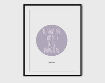 Quote, positive thinking, home decoration, poster, downloadable, typography
