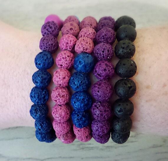 Natural Lava Rock Bracelets - Oil Diffuser Bracelets