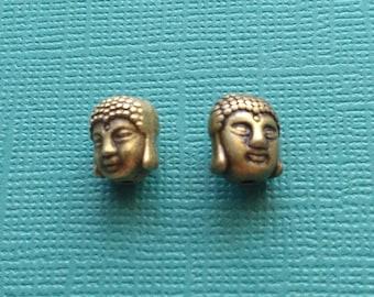4 Buddha Spacer Beads Bronze - CB2740