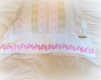 Pillowcase spring dream– handmade pillow cover -  made from recycled fabric