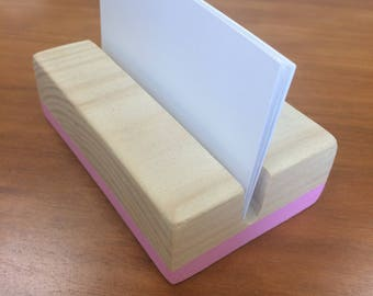 Business Card Holder // Desk Accessory // Wooden Card Holder // Desk Storage