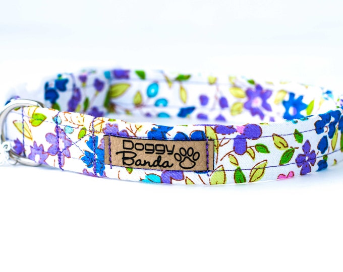 Romantic Dog Collar White Poppy Dog Collar Pretty Flowers Dog Collar Female Summer Dog Collar Cute Floral Dog Collar Wedding Girly Collar