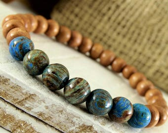 Wood Bracelet Wood Mala Bracelet Yoga Jewelry Meditation Bracelet Wood Jewelry Sandalwood Bracelet Wrist Mala Buddhist Bracelet Meditation.