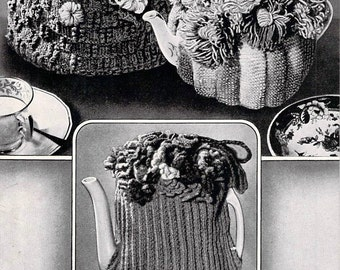 Three Tea-Cosies ~ Vintage Knitting Pattern