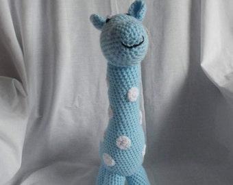 Hand Crafted 'Blue' Crochet Giraffe