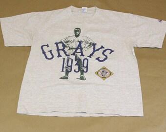 Homestead Grays T-Shirt - VTG 90s/Retro 30s Negro League Baseball Apparel - LOGO7 Clothing