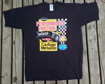 "Vintage 90's Midas Performance Friction Carbon Metallic ""The Power to Stop the Best!"" Made in Canada XL"