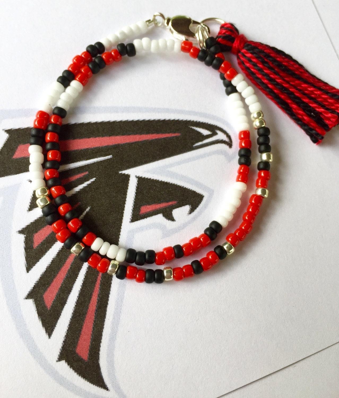 atlanta falcons bracelet football day bracelet beaded