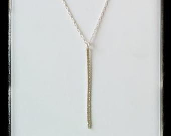 Gold filled or sterling silver hammered handmade  spike necklace