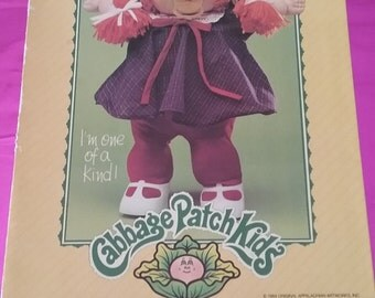 VINTAGE 80s Cabbage Patch Kid Folder