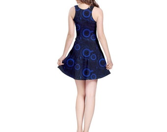 Doctor Who Dress - Skater Dress Dr Who Dress Cosplay Dress Comicon Dress Plus Size Dress Goth Dress Gallifreyan Dress
