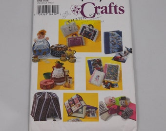 Multiple Cover Sewing Patterns, Simplicity 9339, Bird Cage, Sewing Machine, Computer Mouse, Cookie Tin, Photo Album, Book Carriers