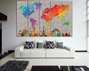 world map canvas art world map canvas map canvas world map wall art map on canvas world map print world map poster world map watercolor map