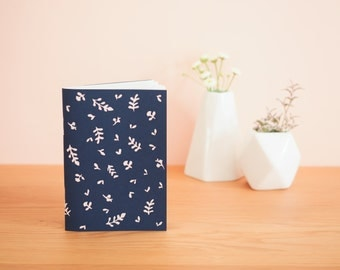 Vegetation - Navy Blue notebook