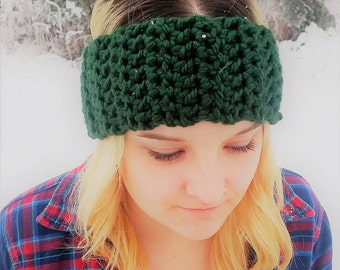 Headband/Ear Warmer in Red, Green or Brown