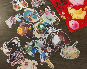 Overwatch Chinese New Year spray stickers